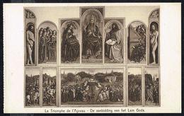 """"""" Le Triomphe De L'Agneau """" De Hubert Et Jean VAN EYCK - Non Circulé - Not Circulated - Nicht Gelaufen. - Peintures & Tableaux"""