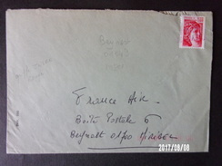 Griffe Insee Rouge Beynost 01-043 - Marcophilie (Lettres)
