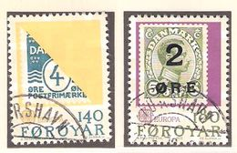 Faroe Islands Føroyar 1979 Europe Post History, Stamps On Stamps, Mi  43-44, Cancelled(o) - Féroé (Iles)