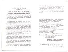 Devotie - Devotion - Alice De Busschere - Bissegem 1894 - Kortrijk 1971 - Piepers - Décès