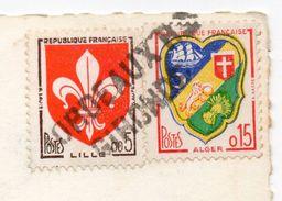 """Griffe Linéaire Ou Horizontale"""" BORDEAUX RP  GIRONDE"""" Sur Cpsm Sisteron-Vue Générale - Marcophilie (Lettres)"""
