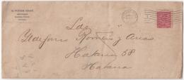 1914-H-85 CUBA (LG-1241) 1914 2c MAPITA. SOBRE CON CONTENIDO. - Lettres & Documents
