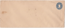 1903-EP-50 CUBA (LG-1219) 5c COLON POSTAL STATIONERY LONG COVER UNUSED. - Lettres & Documents