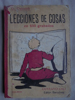 Ancien Manuel Scolaire Lecciones De Cosas Leçons De Choses Espagnol 1920 - Livres, BD, Revues