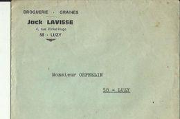 Enveloppe  Non Circulée De Mr JACK  LAVISSE  Droguerie-Graines A LUZY  58  A Dresséen A Mr Orphelin A LUZY 58 - 2. Graines