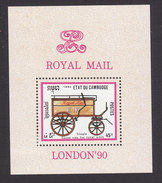 Cambodia, Scott #1026, Mint Hinged, Mail Coaches, Issued 1990 - Cambodia