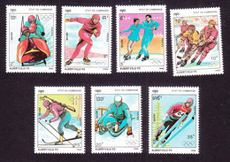 Cambodia, Scott #1030-1036, Mint Hinged, Winter Olylmpics, Issued 1990 - Cambodge