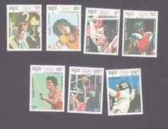 Cambodia, Scott #1038-1044, Mint Hinged, Summer Olympics, Issued 1990 - Cambodia