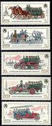 USSR Russia 1984 History Fire Engine Horse Drawn Crew Wagon 19C Steam Pump Transport Trucks Stamps Mi 5461-65 Sc 5319-23 - Trucks