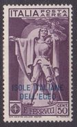 Italy-Colonies And Territories-Aegean General Issue-Rodi A1 1930 Air Mail Ferrucci 50c Violet MH - Italy