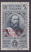 Italy-Colonies And Territories-Aegean General Issue-Rodi A18 1932 Air Mail Garibaldi 5 Lira+1 Lira Slate Used - Italy