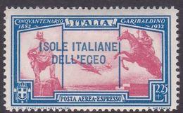 Italy-Colonies And Territories-Aegean General Issue-Rodi A19 1932 Air Mail Garibaldi 2,25 Lira+1 Lira Air Express MH - Italy