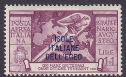 Italy-Colonies And Territories-Aegean General Issue-Rodi A50 1938 Air Mail Augustus 1 Lira+1 Lila Lilac MH - Italy