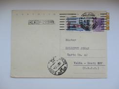 ITALY 1961    , MILANO TO USSR RUSSIA ESTONIA  ,   POSTAL STATIONERY  ,00 - Interi Postali