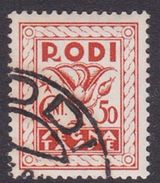 Italy-Colonies And Territories-Aegean General Issue-Rodi Postage Due D 6 1934 50c Orange Used - Italy
