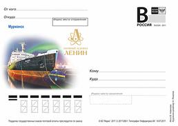 "2017-280 Russia Russland Russie Rusia Postal Card ""B"" Murmansk.The World's First Atomic Icebreaker ""Lenin"" - Navi Polari E Rompighiaccio"