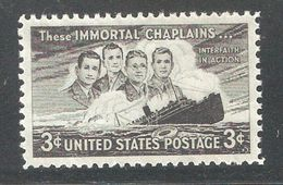 US 1948,Four Chaplains Issue,Sc 956,VF MNH** - United States