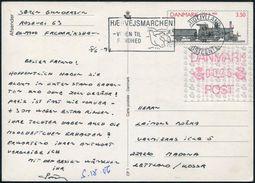 Denmark 1991 Stationery Card Railway Eisenbahn Chemin De Fer Steam Locomotive Slogan Cancel Bird Grouse ATM Frama > USSR - Eisenbahnen