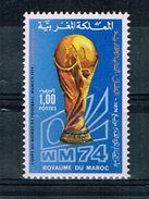 Maroc. Marocco.1974 World Cup.Soccer.Football.Fussball.Overprint.MNH** - Copa Mundial