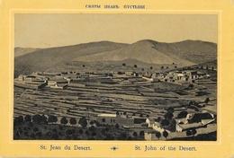 Chromo Israël - Lot De 2 Cartes Non Circulées - Ramle, Saint Jean Du Désert (St John Of The Desert) - Israel