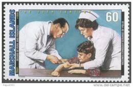 Jonas Salk Vaccines Conquer Scourage Of Polio, Disease, Immunization, Disabled / Handicapped, MNH, Marshall Islands - Behinderungen