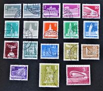MONUMENTS 1956/63 - OBLITERES - YT 125 + 125a + 125A/135A + 162 - [5] Berlin