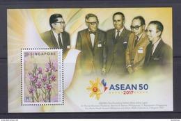 Singapore 2017 ASEAN 50, Orchids Collector Sheet MNH - Emissioni Congiunte