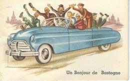 Un Bonjour De BASTOGNE - Superbe CPA à Système - Cachet De La Poste 1956 - Bastogne