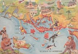 LE GOLFE DE MORBIHAN -  Aquarelle Illustrateur L Guillaume - Non écrite - France
