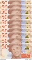 SWEDEN 50 KORONOR ND (2015) P-70 UNC 10 PCS [ SE70 ] - Sweden