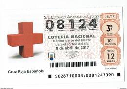 Spain Lottery Ticket - CRUZ ROJA , ROUGE CROIX, RED CROSS - Loterijbiljetten