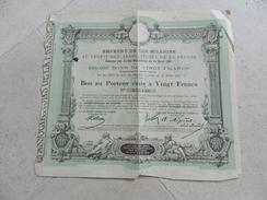 BON AU PORTEUR ASSOCIATIONS DE LA PRESSE 1887 - Shareholdings