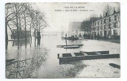 75/ PARIS... INONDATIONS Janvier 1910.. Crue De La Seine. PARIS. Quai De Billy. 28 Janvier 1910 - Alluvioni Del 1910