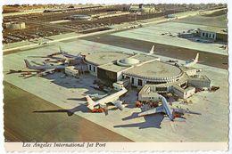 CPSM       LOS ANGELES INTERNATIONAL JET PORT    AERIAL VIEW       VUE AERIENNE DE L AEROPORT - Aerodrome