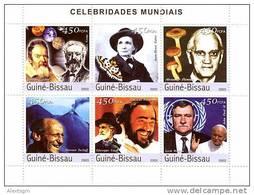 GUINEA BISSAU 2003 - Celebrities, Mushrooms - Mi 2415-20, YT 1306-11 - Funghi