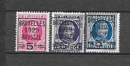 België 1929 Y&T Nr 273/275 (**) - 1922-1927 Houyoux
