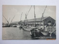 Postcard Native Jetty Karachi Pakistan Animated Dockside Scene My Ref  B11622 - Pakistan
