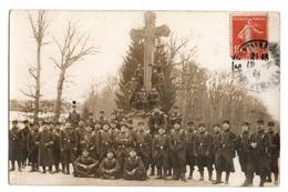 77 SEINE ET MARNE - FONTAINEBLEAU Carte Photo Prise à La Croix De Saint-Hérem - Fontainebleau