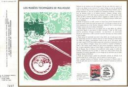 Sur Feuillet CEF , FDC 1986 Mulhouse .   LES  MUSEES  TECHNIQUES  DE  MULHOUSE . - FDC