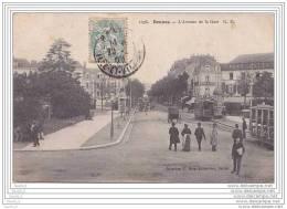 35) Rennes.- L'Avenue De La Gare  G.F. -  (belle Animation) - Rennes