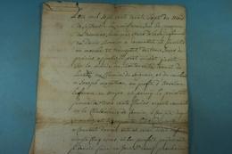 1737 Acte De Vente De Anne De La Noye épouse Bonnier à Anselme Laffineur (Boutonville,Baileux) - Documents Historiques