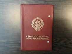 PASSPORT   REISEPASS  PASSAPORTO  YUGOSLAVIA  1967. VISA TO : HUNGARY , SUISSE , SWEDEN , DENMARK , GREECE , GERMANY , - Historische Dokumente