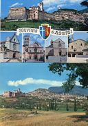 Assisi - Lotto 2 Cartoline SOUVENIR DI ASSISI 5 MINI VEDUTE, PANORAMA - OTTIMO N72 - Perugia