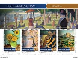 MALDIVES 2015 SHEET POST IMPRESSIONISM ART PAINTINGS ARTE PINTURAS Mld15-1005a - Maldives (1965-...)