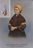 Sainte Bernadette Soubirous Portrait Authentique Avec Médaille De La Vierge - Saints
