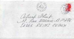 1987- Beau Cachet Manuel à étoile  PARIS 66 (14°) -- Marianne Type Liberté 2.20F - Marcophilie (Lettres)