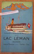 """Brochure """"Lac Léman, Suisse Ca 1930"""" - Colecciones"""