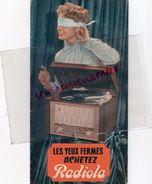 BEAU CATALOGUE RADIO RADIOLA -TOURNE DISQUES-AUTORADIO-CACHET O. VILLANEAU TSF POITIERS - Pubblicitari
