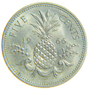[NC] BAHAMAS - 5 FIVE CENTS 1966 - Bahamas