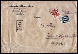 A4790) Danzig Drucksache Bis 100g Von Danzig 18.12.22 M. Mi.108, 110 - Abstimmungsgebiete